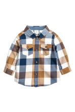 Checked flannel shirt - Light camel - Kids | H&M CN 1