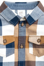Checked flannel shirt - Light camel - Kids | H&M CN 2