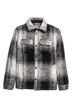 Padded shirt jacket - Black/Checked - Men | H&M CN 2