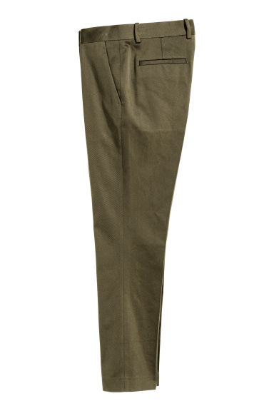 Cotton twill suit trousers - Dark Khaki - Men | H&M CN 1