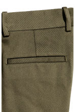 Cotton twill suit trousers - Dark Khaki - Men | H&M CN 3