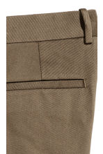 Cotton twill suit trousers - Dark Khaki - Men | H&M CN 4