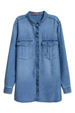 Lyocell utility shirt - Denim blue - Ladies | H&M 3