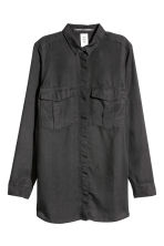 Lyocell utility shirt - Black - Ladies | H&M CN 2