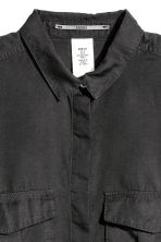 Lyocell utility shirt - Black - Ladies | H&M CN 3