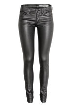 Coated Skinny Low Jeans - Zwart - DAMES | H&M BE 2