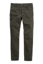 Chinos Skinny fit - Dark khaki green - Men | H&M 2