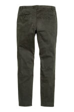 Chinos Skinny fit - Dark khaki green - Men | H&M 3