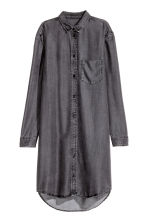 Lyocell shirt dress - Black denim - Ladies | H&M CN 2