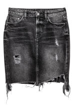 Denim skirt trashed - Black - Ladies | H&M CN 2
