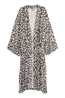 Leopard-print dressing gown
