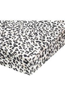 Leopard-print fitted sheet