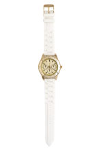 Watch with a silicone strap - White - Ladies | H&M CN 2
