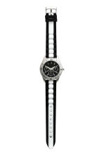 Watch with a silicone strap - Black/White - Ladies | H&M CN 2
