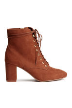 Lace-up boots - Rust brown - Ladies | H&M CN 1
