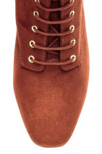 Lace-up boots - Rust brown - Ladies | H&M CN 3
