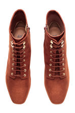Lace-up boots - Rust brown - Ladies | H&M CN 2