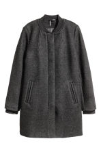 Short wool-blend coat - Black - Ladies | H&M CN 2