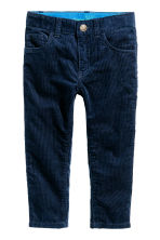 Corduroy trousers - Dark blue - Kids | H&M CN 2