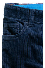 Corduroy trousers - Dark blue - Kids | H&M CN 5