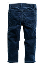 Corduroy trousers - Dark blue - Kids | H&M CN 3