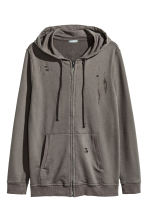 Hooded jacket Trashed - Dark mole - Men | H&M CN 2