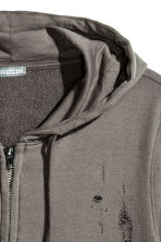 Hooded jacket Trashed - Dark mole - Men | H&M CN 3