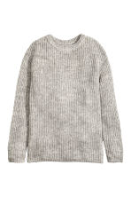 Oversized jumper - Light grey marl - Ladies | H&M CN 2