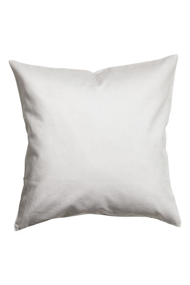 Cotton twill cushion cover - Light grey - Home All | H&M CN 1