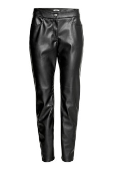 H&M+Imitation leather trousers