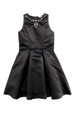 Satin dress - Black - Kids | H&M CN 2