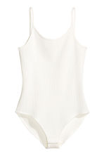 Ribbed body - White - Ladies | H&M CN 2