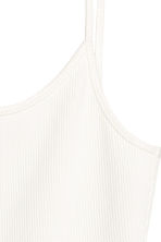 Geribde body - Wit -  | H&M BE 4