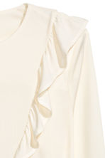 Frilled top - Natural white - Ladies | H&M CN 3