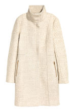 Short wool-blend coat - Light beige marl - Ladies | H&M CN 2