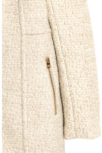 Short wool-blend coat - Light beige marl - Ladies | H&M CN 3
