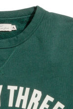 Printed sweatshirt - Dark green - Men | H&M CN 3