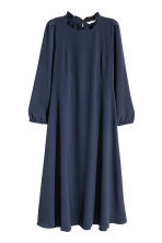 Knee-length dress - Dark blue - Ladies | H&M CN 2