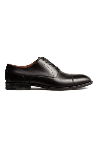 Leather Oxford shoes - Black - Men | H&M CN