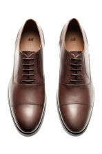Leather Oxford shoes - Dark brown -  | H&M CN 2