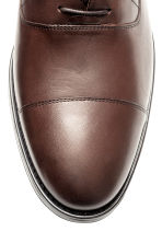 Leather Oxford shoes - Dark brown -  | H&M CN 3