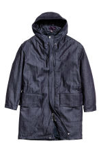 Denim parka with lining jacket - Dark denim blue - Men | H&M CN 2