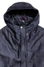 Denim parka with lining jacket - Dark denim blue - Men | H&M CN 4