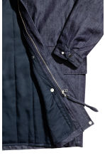 Denim parka with lining jacket - Dark denim blue - Men | H&M CN 3