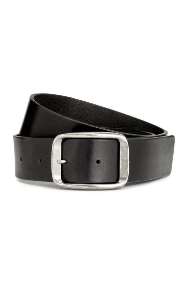 Leather belt - Black -  | H&M 1