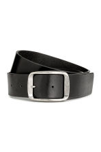 Leather belt - Black -  | H&M CN 1