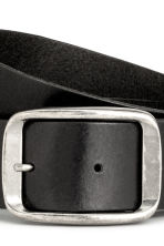Leather belt - Black -  | H&M 3