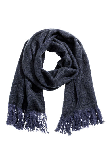Large shawl - Dark blue - Ladies | H&M CN