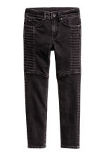Skinny Fit Biker Jeans - Black washed out - Kids | H&M CN 2