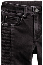 Skinny Fit Biker Jeans - Black washed out - Kids | H&M CN 4
